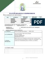 Plan de Negocios Formato Cid 2015