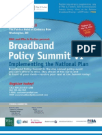 Broadband Policy Summit Agenda