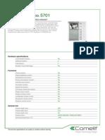 Comelit 5701 Data Sheet