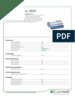 Comelit 4933 Data Sheet