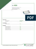 Comelit 4896 Data Sheet