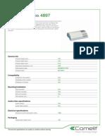 Comelit 4897 Data Sheet