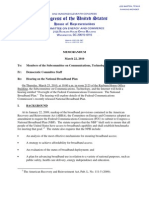 House Subcommittee on Communications Briefing.memo on National Broadband Plan.cti.2010.03.22