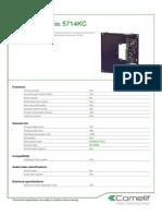 Comelit 5714KC Data Sheet
