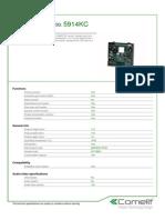 Comelit 5914KC Data Sheet