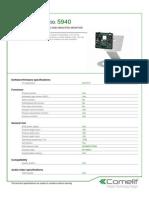 Comelit 5940 Data Sheet