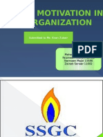 Role of Motivation in an Organization