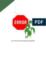 Los 10 Errores Del Cultivador Principiante
