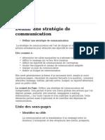 Definir Une Strategie de Communication