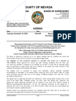 Nevada County BOS Agenda for Nov. 10