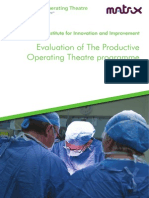 Evaluation of the Productive Operating Theatre Programme FINAL