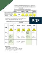 Jadual Waktu Solat Kursus Kepemimpinan Manik Kayu Peringkat 1