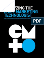 Analyzing the Chief Marketing Technologist | By Sheldon Monteiro (Chief Technology Officer), Hilding Anderson (Director, Research and Insights), and Scott Tang (Head of Global Consumer and Industry Research)