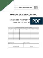 """MANUAL DE AUTOCONTROL """"ANÁLISIS DE PELIGROS Y PUNTOS DE CONTROL CRITICO"""