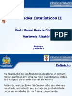 Métodos Estatísticos II - Variáveis Aleatórias