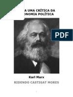 Marx, K. Para a Crítica Da Economia Política