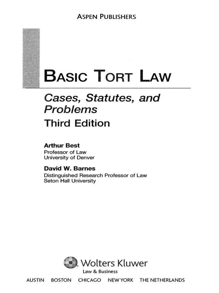 basic tort law by best tort lawsuit