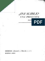 Kung Hans - Infalible - Una Pregunta - Herder 1971