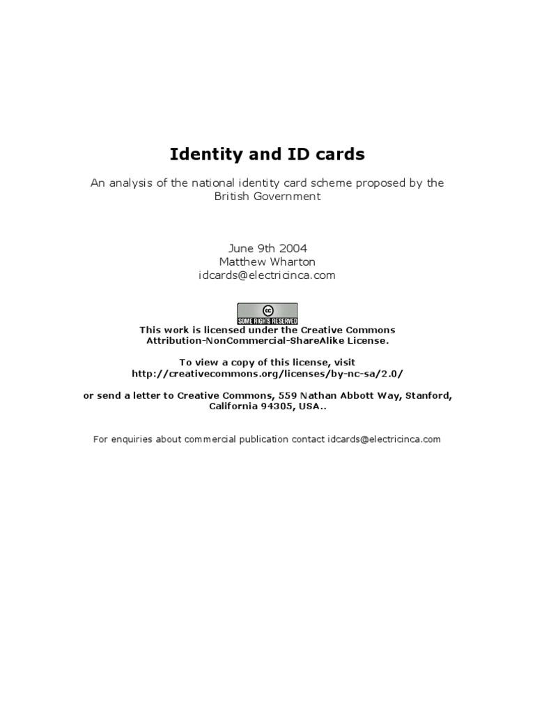 Identity and ID Cards | Identity Theft | Identity Document
