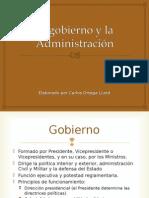 Constitución Española. El Gobierno y La Administración