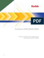 Guía de configuración de digitalización para las aplicaciones TWAIN