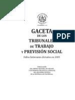 Gacetas de Los Tribunales de Trabajo y Prevision Social