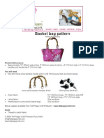 Tall Poppy Craft Basket Purse