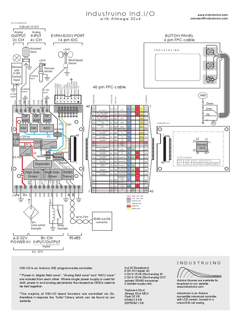 Industruino Ind.I/O: 2x CH Output Input 4x CH Expansion