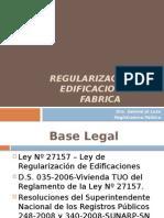REGISTRAL- Regularizacion