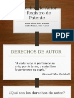 Derechos de Autor y Registro de Patente Final
