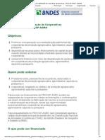 Programa de Capitalização de Cooperativas Agropecuárias - PROCAP-AGRO - BNDES