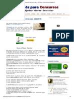 [Português Concurso]_ Classes de Palavras - Exercícios Com GABARITO