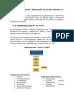 ORGANIZACIÓN Y ESTRUCTURA DEL ESTADO PERUANO