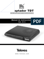 Manual de usuario Televes TDT 5111 Receptor digital terrestre
