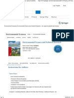 Environmental Science and Pollution Research - Incl