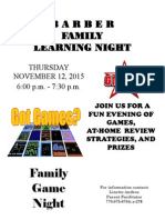 Family Learning Night November 12
