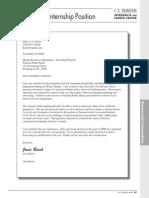 Cover Letter Internship