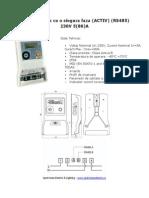 Contor Electric Cu o Singura Faza ACTIV RS485 230V 5 80 A
