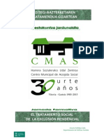 jornada 'El tratamiento social de la exclusión residencial'