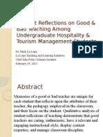 good versus bad teaching -- nicholls
