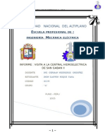 Informe de La Central de San Gaban II