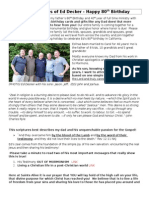 The Exigency of Saints Alive Newsletter