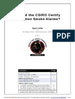 Should the CSIRO Certify Ionization Smoke Alarms?