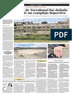 La andenería de Tocrahuasi fue dañada para construir un complejo deportivo