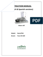 Water Still French Spanish Manual