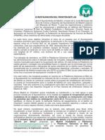 NOTA DE PRENSA de Ahora Chamberí sobre la restauración del Beti-Jai