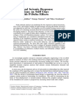 Pushover and Seismic Response of Foundation on Stiff Clay - Analysis With P-Delta Effects