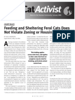 W.M. Anderson, Feeding and Sheltering Does Not Violate Zoning or Housing Codes (Jan. 2006)