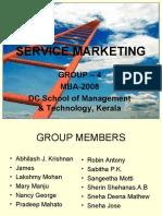 Service Marketing ppt DCSMAT