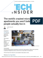 The World's Craziest Micro-Apartments You Won't Believe People Actually Live in - Tech Insider